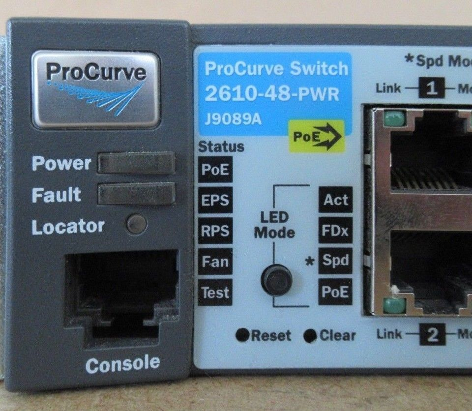 HP ProCurve 2610-48-PWR 48x 10 100 PoE 2x SFP L3 Managed